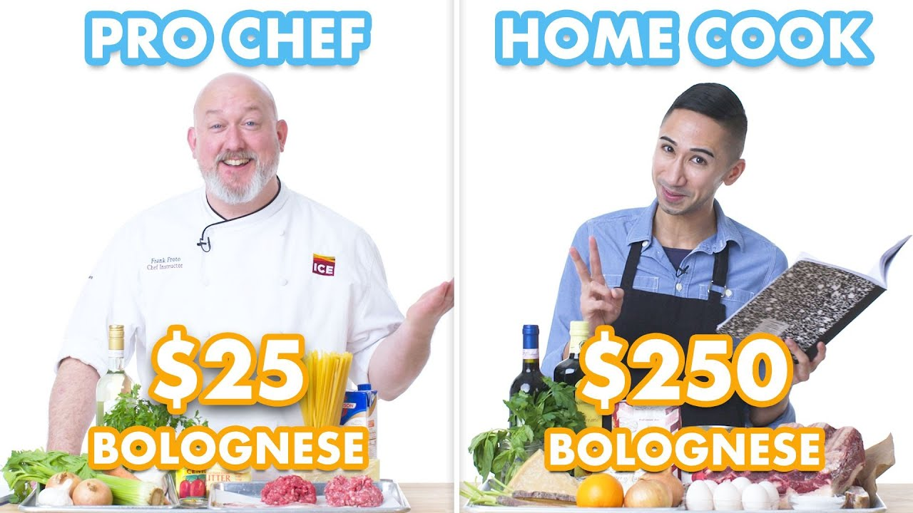 $250 vs $25 Pasta Bolognese: Pro Chef & Home Cook Swap Ingredients
