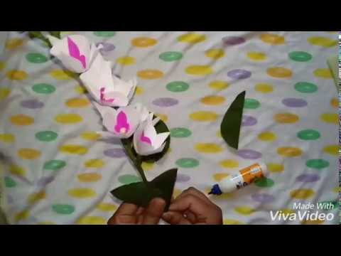 Easy Origami Orchid Flower With Crepe Paper Zayas World414
