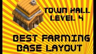 Clash of Clans - Best TH4 Farming Base Layout