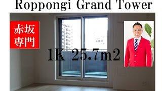 Roppongi Grand Tower Residence|1K  25.7m2 South |Tomo Real Estate