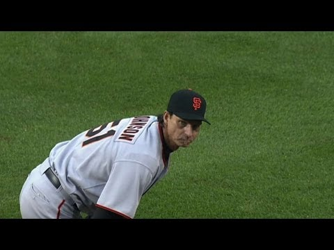 Randy Johnson notches his historic 300th win