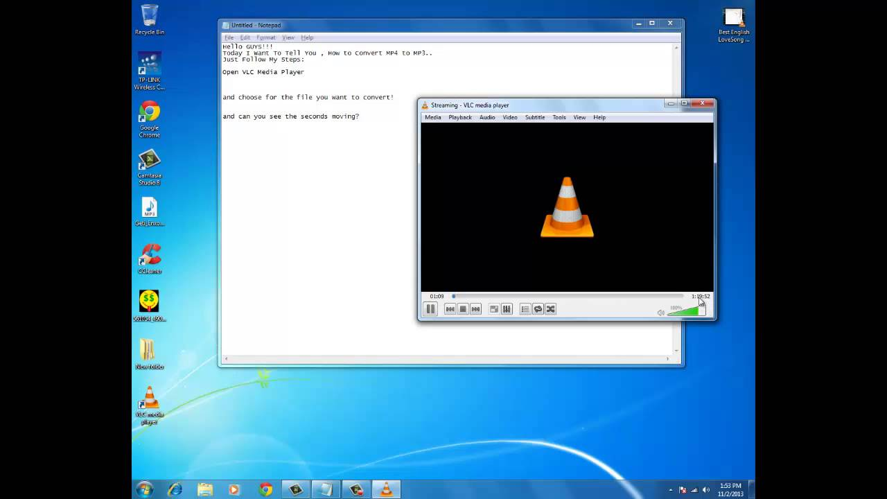 Convert MP4 To MP3 Using VLC Media Player - YouTube