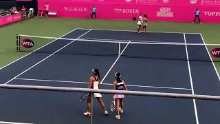 加藤未唯/穂積絵莉 vsZ.ディアス/徐一璠WTA2017 Japan Women's Open Tennis ダブルス1R ノーカット版