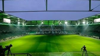 LED-FLUT- LICHTSHOW in der Volkswagen Arena   VfL Wolfsburg