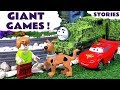 Giant Funny Games with Lego Scooby Doo Toys Thomas and Friends Disney Cars Play Doh and Paw Patrol