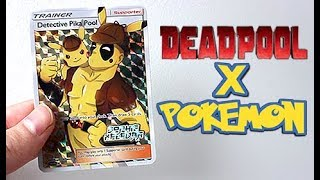 Deadpool & Pikachu Full Art Pokemon Card