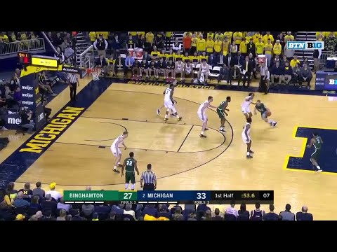 first-half-highlights:-binghamton-at-michigan- -big-ten-basketball