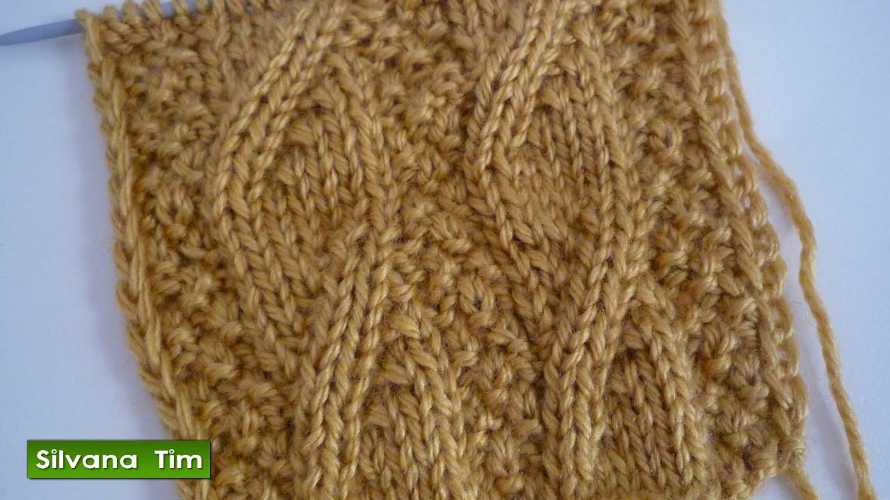 Punto puntada imitaci n de trenza tejido con dos agujas - Como hacer punto de ochos a dos agujas ...