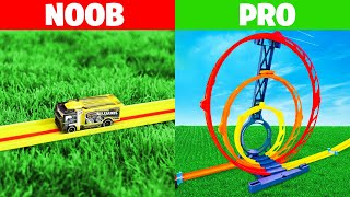 NOOB vs PRO HOT WHEELS FASTEST CAR CHALLENGE!