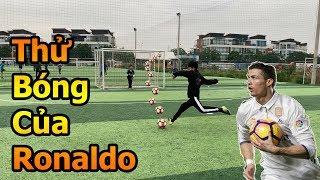 Thử Thách Bóng Đá Asian Cup 2019 sút bóng của Ronaldo Neymar với Xuân Trường nhí và Quang Hải Nhí