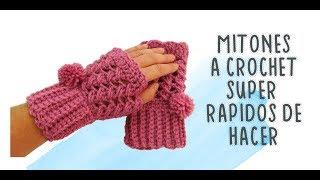 Mitones o Guantes crochet  Fáciles y Rápidos   Very easy crochet mittens  very easy crochet gloves