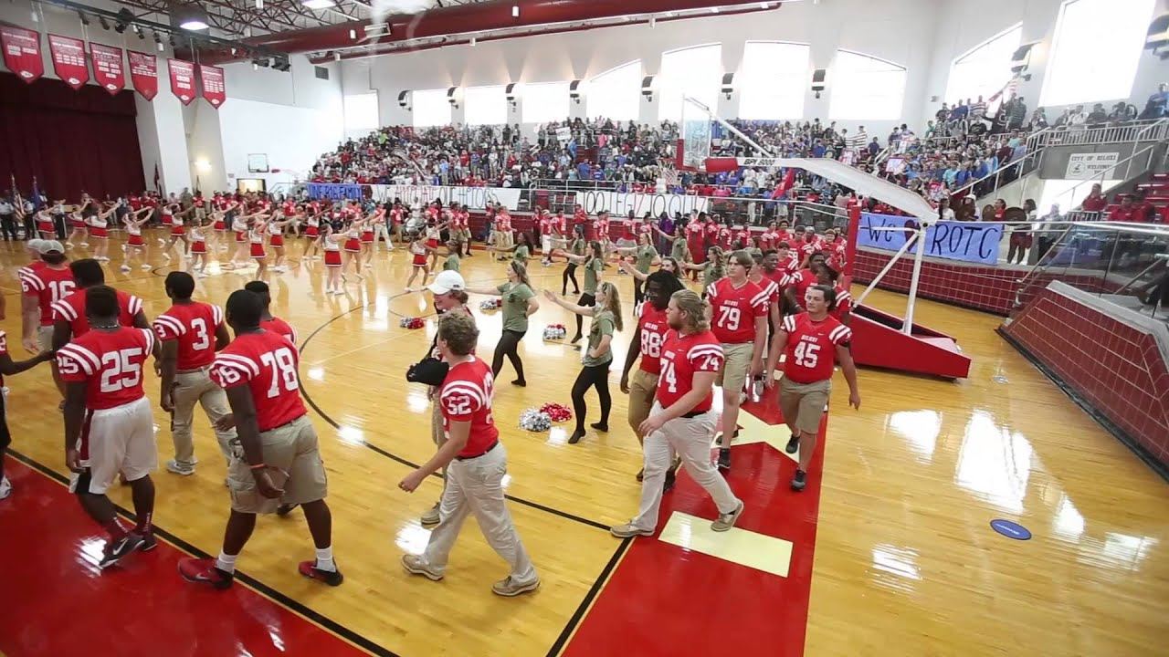 Biloxi High Pep Rally Honors Local Heros Youtube