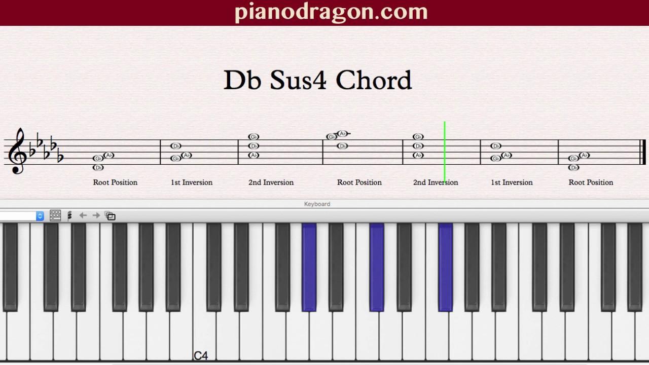 Db sus4 chord youtube hexwebz Choice Image