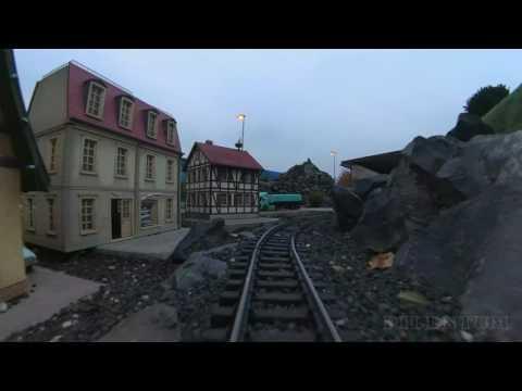 G Scale Garden Train Model Railroad Cab Ride Yi 4K Camera