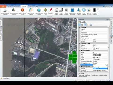 SCADA : GENESIS64 : สร้าง Smart Pin เปิดหน้าแสดงผลจากแผนที่ดาวเทียม