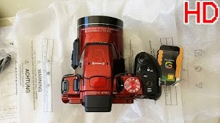 UNBOXING Nikon COOLPIX B700 (RED) 60x OPTICAL ZOOM