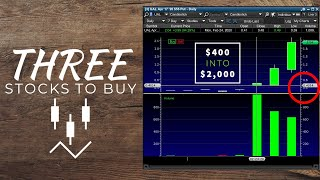 The Stock Market IS GOING TO BOUNCE TOMORROW – My Watchlist – $400 Into $2,000 Trading UAL Stock