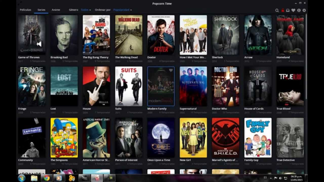 how to watch popcorn time on smart tv