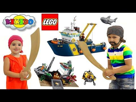 Лего Исследователи Морских Глубин 60095. Обзор и сборка конструктора Лего. Кикидо