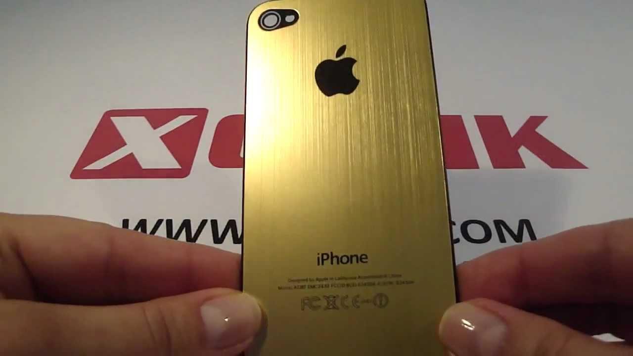 huge discount 42607 399e3 iPhone 4 / iPhone 4S gold aluminium back cover