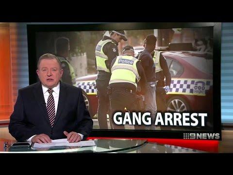 Nine News. Gang Arrest. Mob-Rob Officeworks. (Multiculture Nightmare Melbourne)