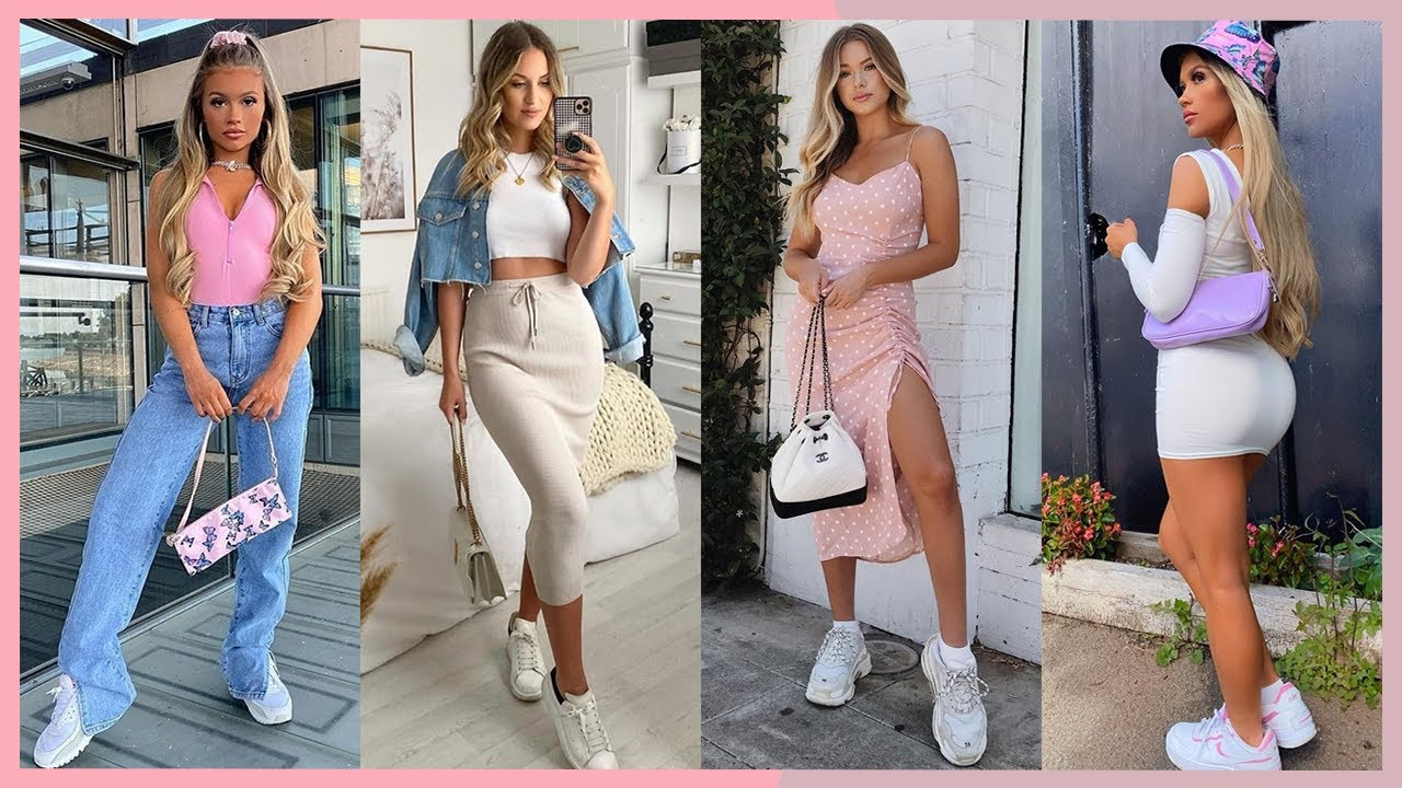 100 Outfits Hermosos Para Primavera Verano 2020 2021 Moda Con Jeans Vestidos Faldas Shorts Youtube