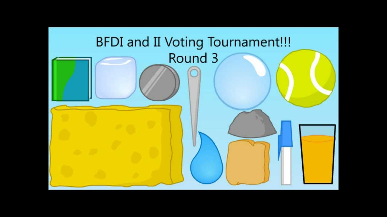 BFDI and II Voting Tournament - Teardrop vs Spongy by taopwnh6427