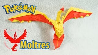 POKEMON - Origami Moltres Team Valor tutorial (Henry Pham)