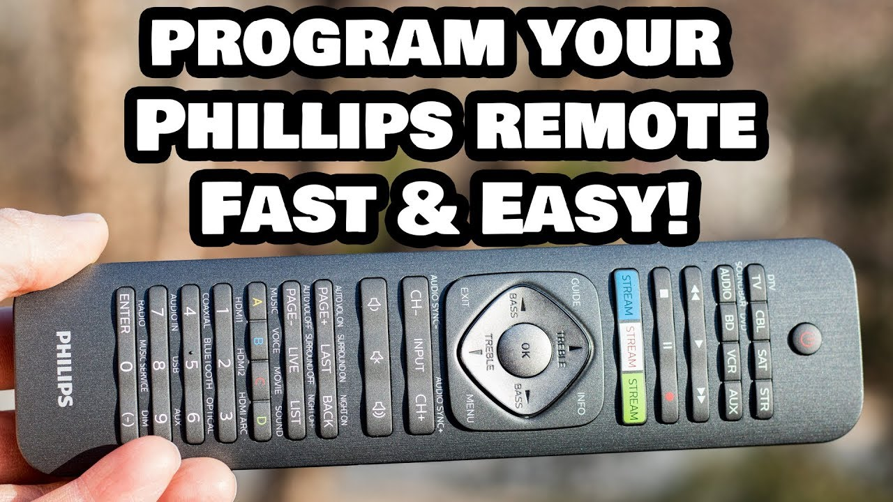 Hypermoderne Programming Your Phillips Universal Remote Control to ANY Device UA-71