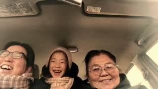 モンゴルの音楽好きの家族.