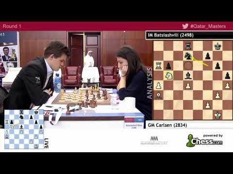 Magus Carlsen Vs Nino Batsiashvili !!! Qatar Chess  Video's (2015)