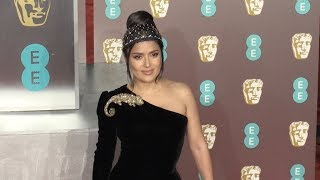 Salma Hayek at the 2019 EE British Academy Film Awards in London