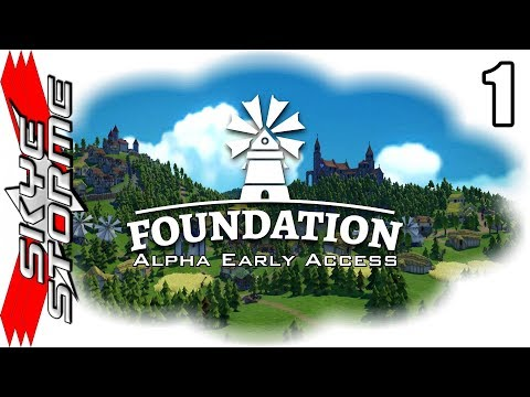 Foundation Alpha Early Access Ep 1 - Medieval City Building Strategy Game [Gameplay / Let's Play]
