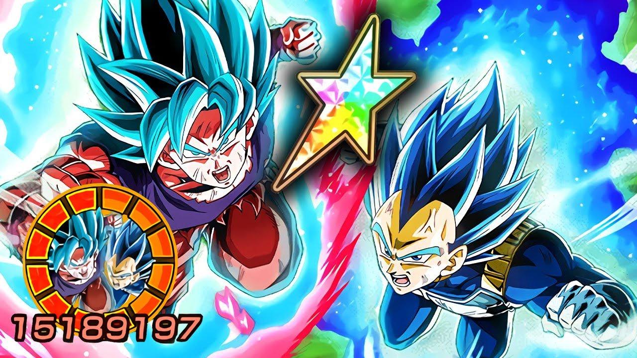 100 Lr Ssbkk Goku Ssbe Vegeta Showcase Dragon Ball Z Dokkan Battle Youtube