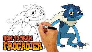 How to Draw Frogadier | Pokemon