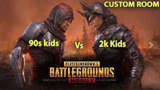 PUBG Mobile 90s Kids Vs 2K Kids Custom Room Tamil Gamers