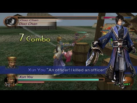 Dynasty Warriors 3 Enemy Side Gameplay - Xun You at Guandu (Very Hard Difficulty)