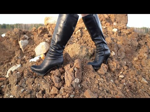 High Heels Boots Abuse, Dirty High Heels Boots, High Heels Boots Uphills Walks (scene 322)
