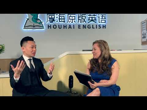 rubicela-acosta,-ceo-interviews-yanming-wang,-ceo-houhai-english-in-beijing,-china.-part-2-of-2.