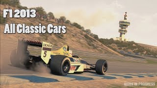 F1 2013 Game: All Classic Cars
