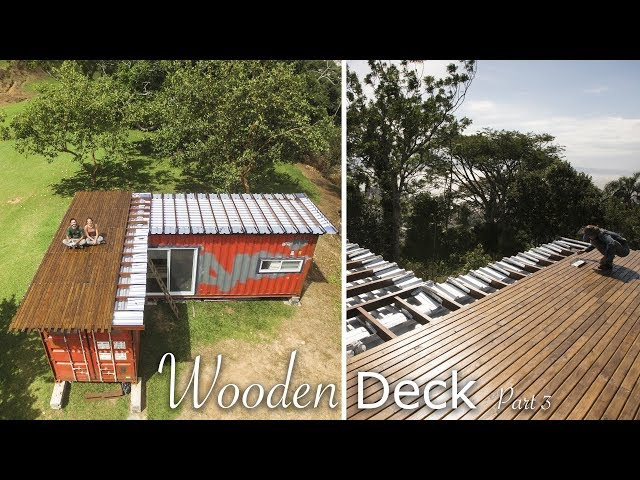 Tiny Shipping Container House Deck Living Tiny Project Ep 021