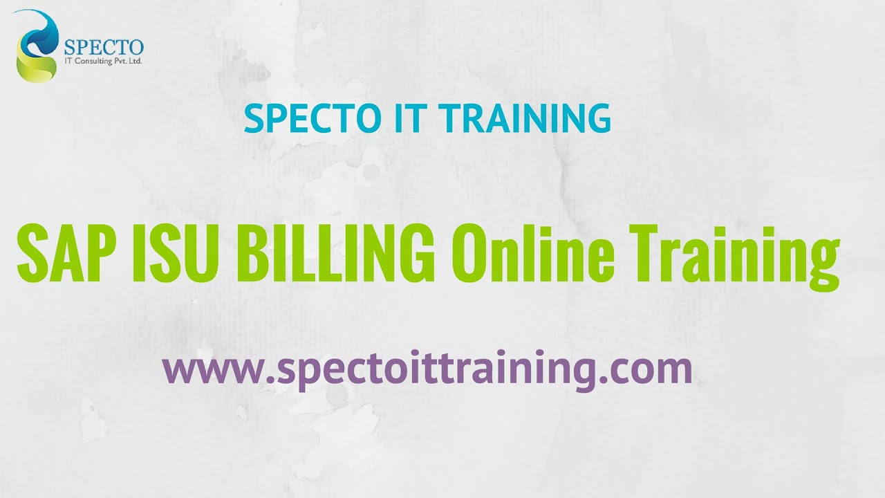 SAP ISU -Billing Invoicing And Device Management Online Training |  spectotraining