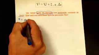 Atividade Equação de Torricelli