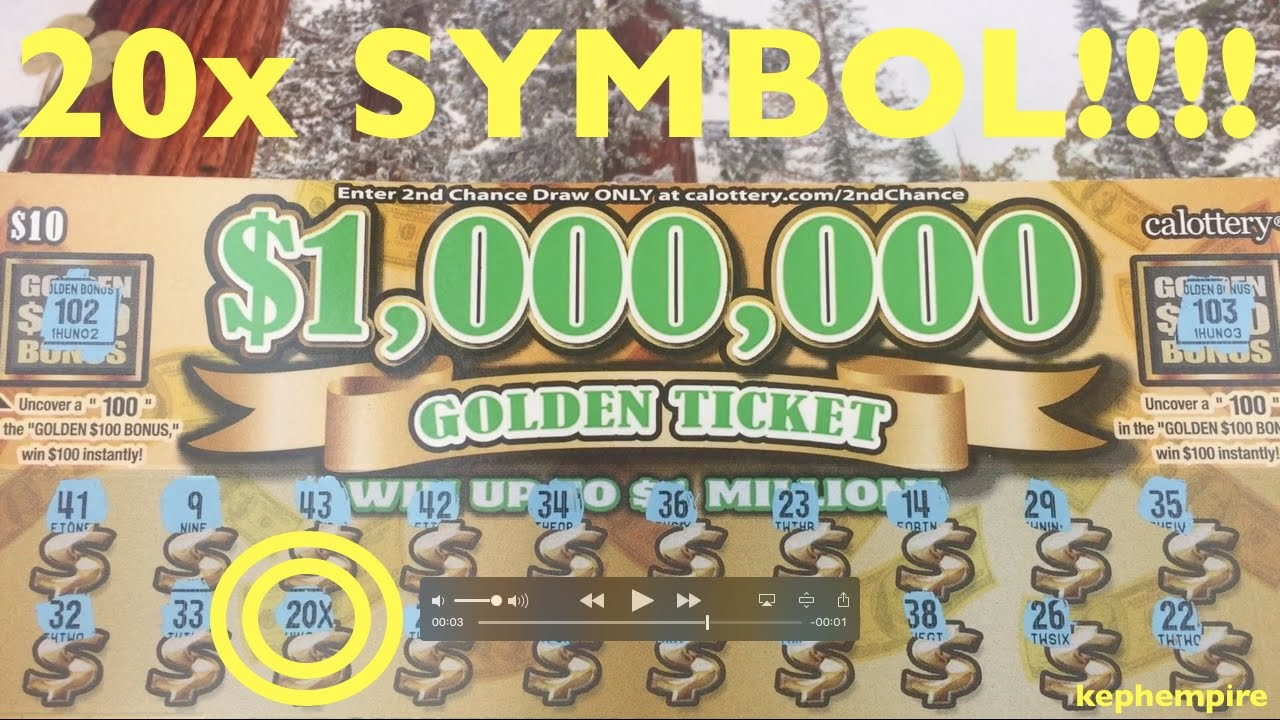 OMG EPIC $1,000,000 GOLDEN TICKET WIN WOW!!! California Lottery Scratchers