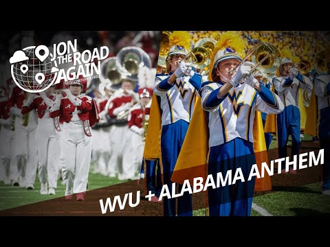 WVU vs. Alabama - Both marching bands play the national anthem