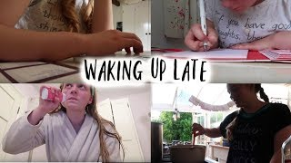 Waking up Late Vlog    Cooking, Exercise and the Cinema