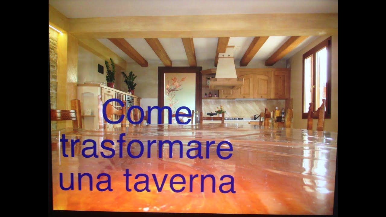 Come trasformare una taverna youtube for Piani di casa rustici con cantina