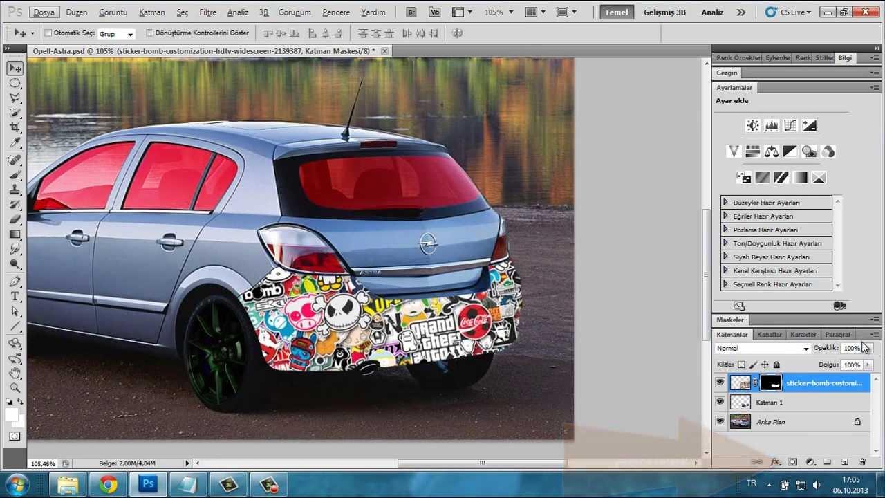 how to make a sticker photoshop