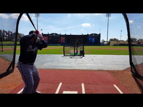 Braves BP and cage chatter with Freddie Freeman, Matt Kemp and Dansby Swanson (2/20/17)