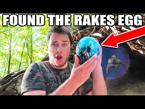 I FOUND AN EGG EXPLORING THE ABANDONED CAVE 😱 (THE RAKE)